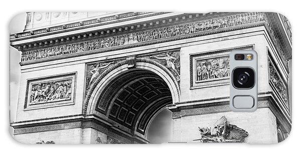 Arch Of Triumph - Paris - Black And White Galaxy Case