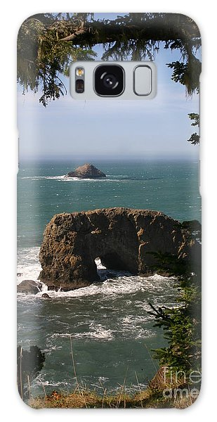 Arch Rock View Galaxy Case by Marie Neder