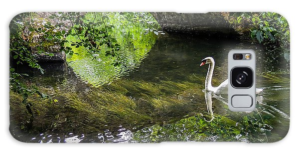 Arched Bridge And Swan At Doneraile Park Galaxy Case