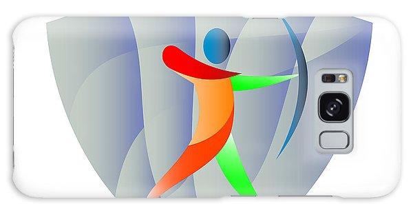 Sportsman Galaxy Case - Archer Archery Crest Retro by Aloysius Patrimonio