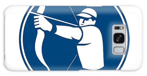 Sportsman Galaxy Case - Archer Bow Arrow Circle Icon by Aloysius Patrimonio