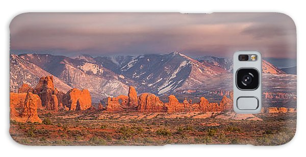 Arches National Park Pano Galaxy Case