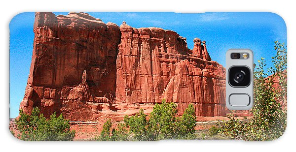 Desert View Tower Galaxy Case - Arches National Park, Utah Usa - Tower Of Babel, Courthouse Tower by Corey Ford