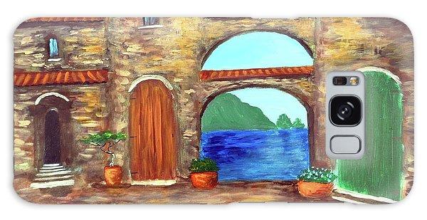 Arches Of Amalfi  Galaxy Case by Larry Cirigliano