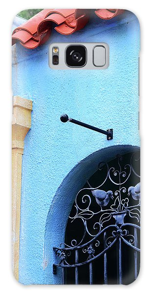 Old Florida Galaxy Case - Architectural Photography Art - Blue Mediterranean - Sharon Cummings by Sharon Cummings