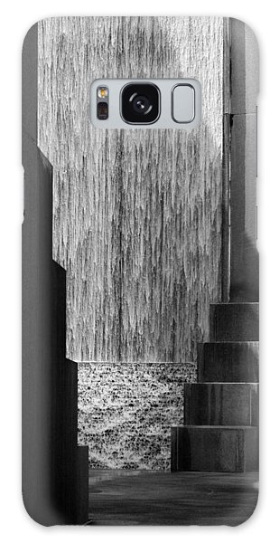 Architectural Waterfall In Black And White Galaxy Case