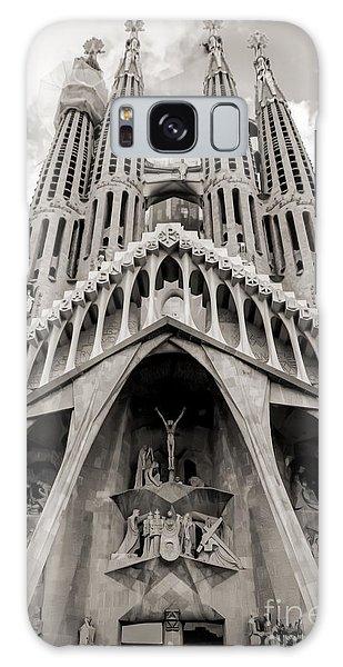 Architecture Antoni Gaudi La Sagrada Familia Barcelona Spain Sepia  Galaxy Case