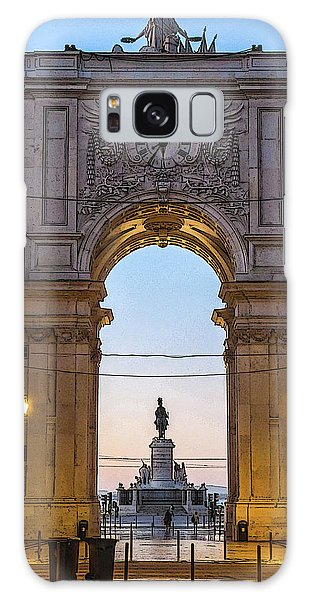 Arco Da Rua Augusta At Sunrise Galaxy Case