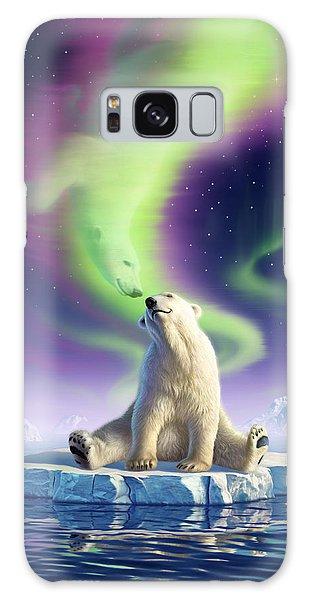 Polar Bear Galaxy S8 Case - Arctic Kiss by Jerry LoFaro