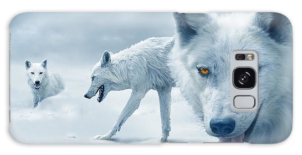 Arctic Wolves Galaxy Case by Mal Bray