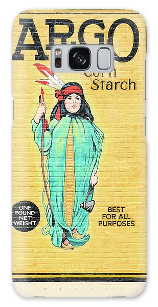 Argo Corn Starch Wall Advertising Galaxy Case