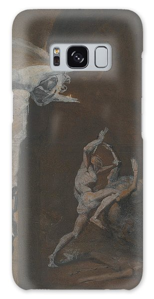 Minotaur Galaxy Case - Ariadne Watching The Struggle Of Theseus With The Minotaur by Henry Fuseli
