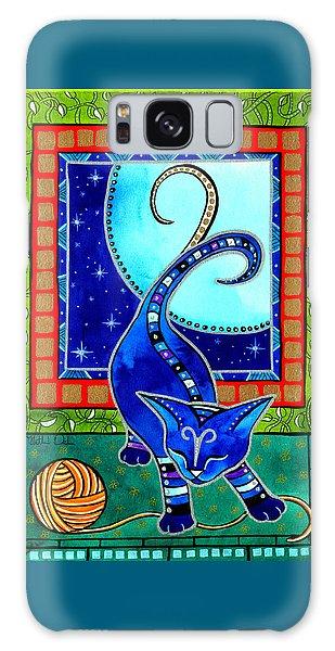 Aries Cat Zodiac Galaxy Case