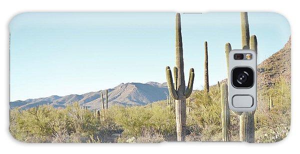 Arizona Cactus Blue Sky Landscape Galaxy Case by Andrea Hazel Ihlefeld