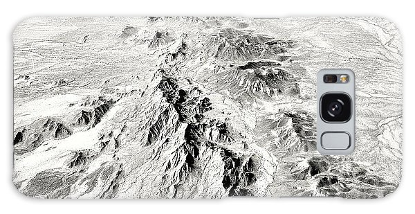 Arizona Desert In Black And White Galaxy Case