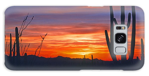 Arizona Desert Sunset Galaxy Case