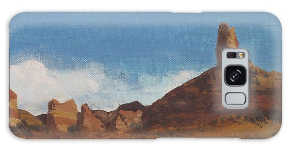 Galaxy Case featuring the painting Arizona Monolith by Suzette Kallen
