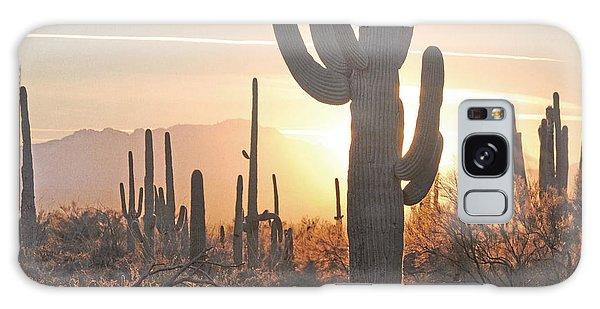 Arizona Saguaro Cactus Sunset Desert Landscape Galaxy Case by Andrea Hazel Ihlefeld