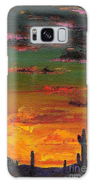 Desert Sunset Galaxy S8 Case - Arizona Sunset by Frances Marino