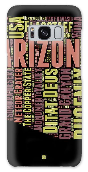 Arizona Word Cloud Map 1 Galaxy Case