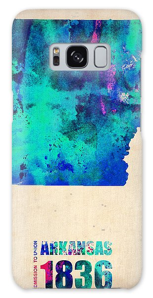 City Map Galaxy Case - Arkansas Watercolor Map by Naxart Studio