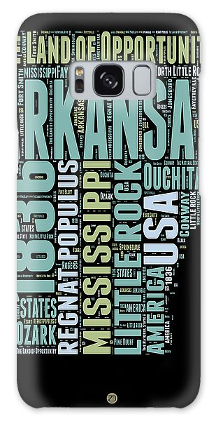 Usa Galaxy Case - Arkansas Word Cloud 1 by Naxart Studio