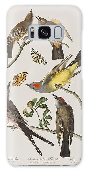 Flycatcher Galaxy Case - Arkansaw Flycatcher Swallow-tailed Flycatcher Says Flycatcher by John James Audubon