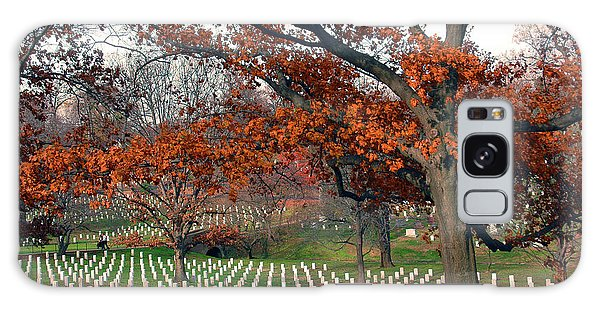 Galaxy Case featuring the photograph Arlington Cemetery In Fall by Carolyn Marshall