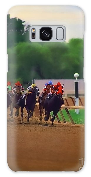 Arlington Park Out Of The Turn Into The Stretch Galaxy Case