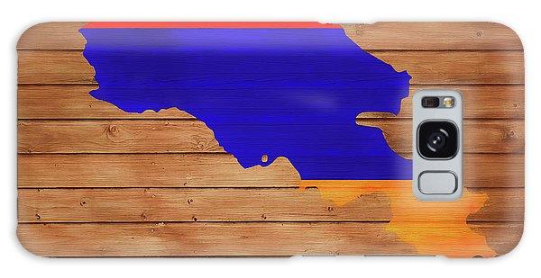 Traveler Galaxy Case - Armenia Rustic Map On Wood by Dan Sproul