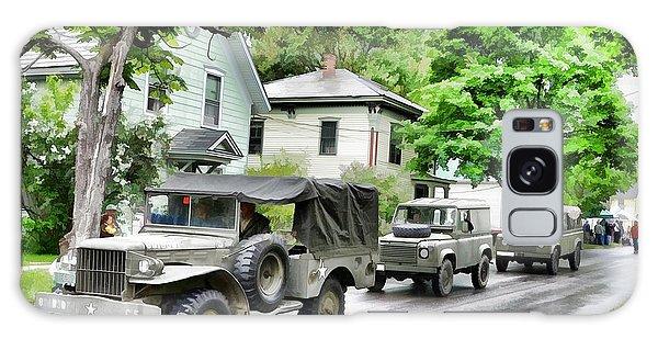 Army Jeeps On Parade Galaxy Case by Rena Trepanier