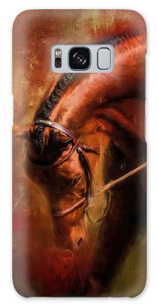 Around The First Turn Equestrian Art Galaxy Case
