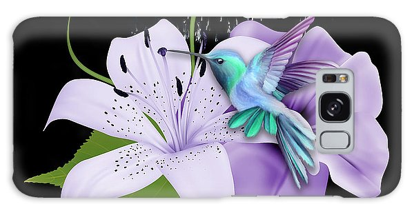 Galaxy Case featuring the mixed media Arrival Hummingbird by Marvin Blaine