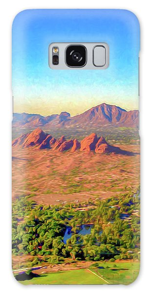 Arriving In Phoenix Digital Watercolor Galaxy Case