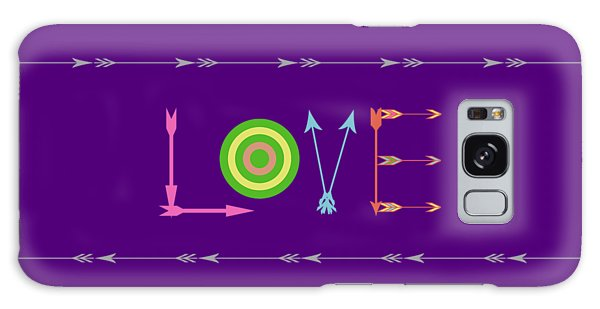 Arrow Love - Changeable Background Color Galaxy Case
