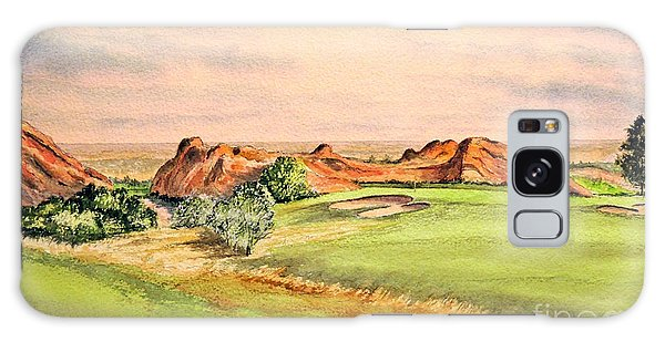 Galaxy Case featuring the painting Arrowhead Golf Course Colorado Hole 3 by Bill Holkham