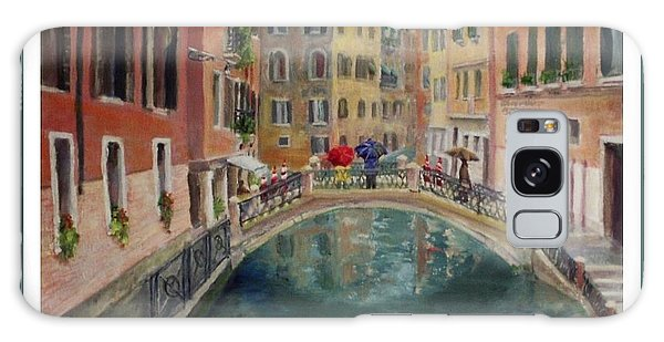 Art Card - Umbrellas In Venice Galaxy Case