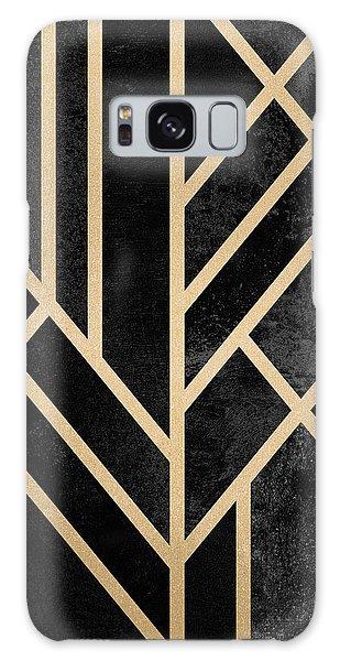 Gold Galaxy Case - Art Deco Black by Elisabeth Fredriksson