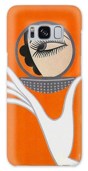 Art Deco Galaxy S8 Case - Art Deco Fashion Illustration by Tina Lavoie