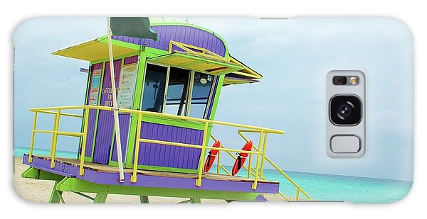Art Deco Lifeguard Shack Galaxy Case