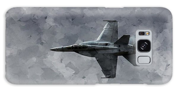 Galaxy Case featuring the photograph Art In Flight F-18 Fighter by Aaron Lee Berg