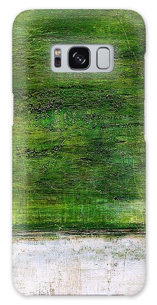 Art Print Green White Galaxy Case