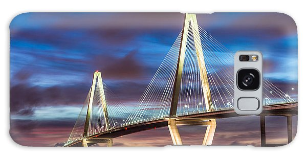 Arthur Ravenel Bridge At Night Galaxy Case