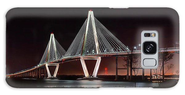 Arthur Ravenel Jr. Bridge At Midnight Galaxy Case by George Randy Bass