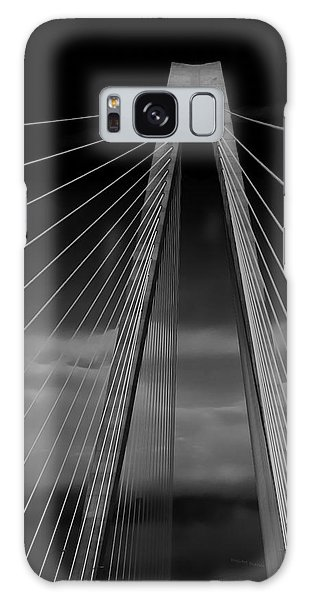 Arthur Ravenel Jr Bridge Galaxy Case by DigiArt Diaries by Vicky B Fuller