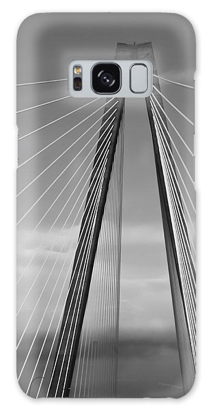 Arthur Ravenel Jr Bridge II Galaxy Case by DigiArt Diaries by Vicky B Fuller