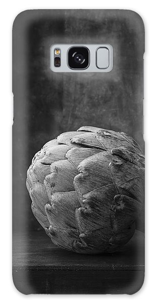 Artichoke Black And White Still Life Galaxy Case by Edward Fielding