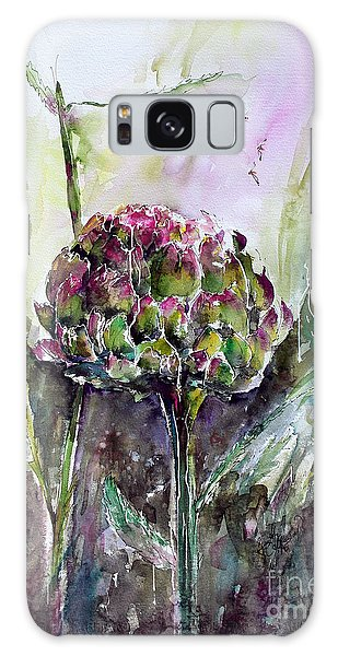 Artichoke Watercolor And Ink By Ginette Galaxy Case