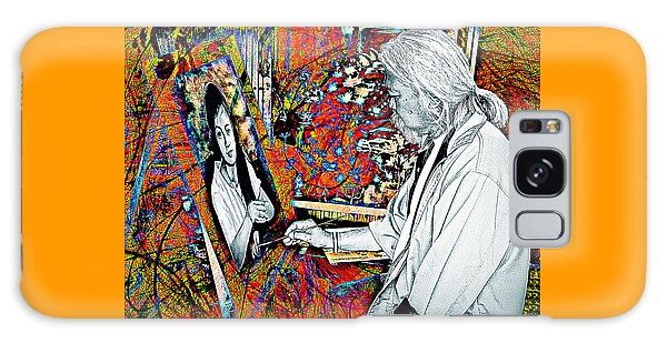 Artist In Abstract Galaxy Case
