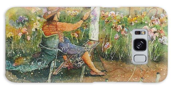 Artist In The Iris Garden Galaxy Case